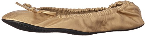 Alora Foldable Flats with Carrying Case, Champagne, Medium