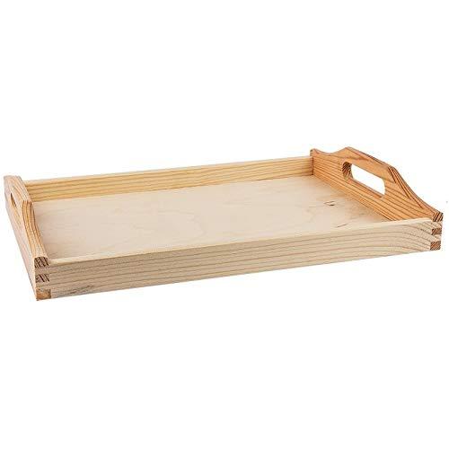 Holztablett, unbehandelt, klein, 30cm x 20cm x 5cm