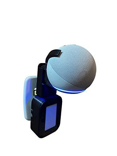 Suporte Base De Tomada All In One Alexa Echo Dot 4 Backpack Modular 2021 (preto)