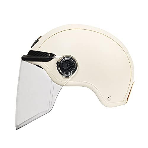 Helmets Medio Casco de Motocicleta Unisex para Adultos, Scooter de Crucero, con Visera retráctil Tintada, Casco de Bicicleta de Calle, Aprobado por ECE/Dot