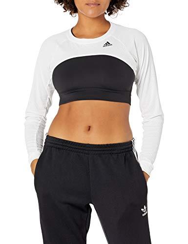 adidas Heat Ready Tennis Shrug Camiseta, Blanco/Cobre Metálico, Extra-Large para Mujer