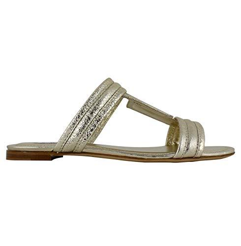 Tod's Luxury Fashion Damen XXW37B0AT80RDAG203 Gold Leder Sandalen | Jahreszeit Outlet
