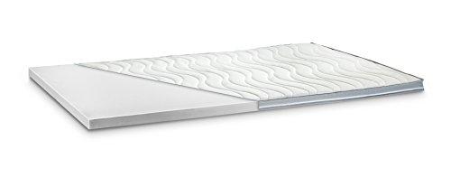 Kaltschaum Topper Matratzenauflage | 7 cm Gesamthöhe | abnehmbarer und waschbarer Bezug | Bezug mit 3D-Mesh-Klimaband und Stegkanten | H3 - fest | 180 x 200 cm