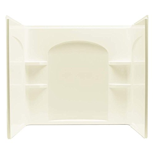 """Ensemble 3-Piece 33.25"""" x 55.25"""" Wall Set with Age-In-Place Backers Finish: Biscuit -  Sterling by Kohler, 71224106-96"""