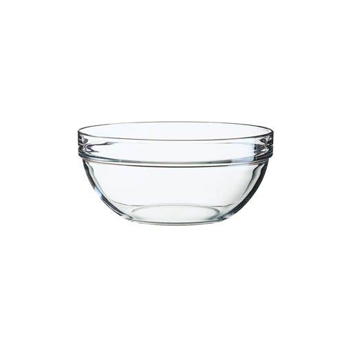 Arcoroc Stapelschale, transparent, H 9,2 cm, Ø 20 cm, 1 Stk. - Glasschale Salatschale Salatschüssel