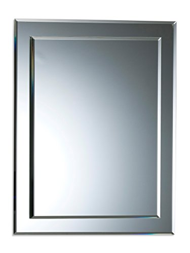 Neue Design BATHROOM MIRROR Double Layer Rectangular Wall Plain - Beautiful Quality Mirror for your Bathroom or Other Rooms in your Home 50cm X 40cm