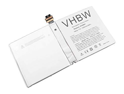 vhbw Akku kompatibel mit Microsoft Surface Pro 4 4 1724 Tablet Pad 5050mAh 75V Li Polymer