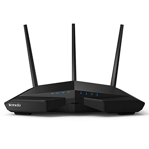 Tenda AC18 Wireless-AC1900 Dual Band Gigabit Router,1300Mbps at 5GHz, 600Mbps at 2.4GHz,4 High Speed LAN Ports, USB 3.0 Port, Guest Network (AC18), Black