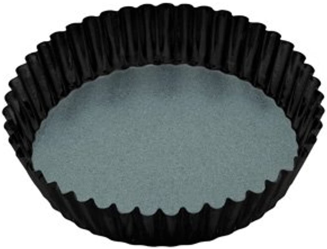 Kitchen Craft 5028250481429 Master Class Non Stick Extra Deep Fluted Tart Tin One Size Black