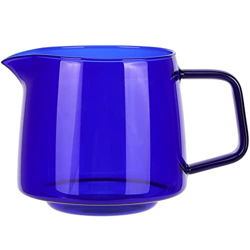 Tazas de café de vidrio de 550 ml, tazas de café con leche, tazas de café expreso con asa, taza para beber para café con leche, capuchino, chocolate caliente, té y jugo(azul)