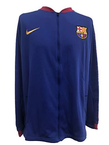 Nike Herren FC Barcelona Anthem Trainingsjacke, Deep Royal Blue/University Gold, S