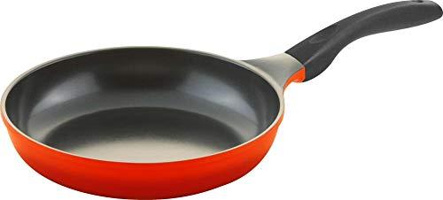 Steuber culinario Bratpfanne Ø 24 cm, rot, antihaft-cerathermplus-Beschichtung und induktionsgeeignet