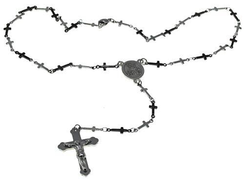 Rozenkrans Kralen RVS Ketting Kruis van Jezus Ketting Katholieke Zegen Rozenkrans Kralen kruisiging ketting armband