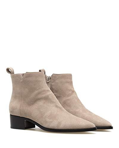 Damen Schuhe Stiefeletten POMME DOR 5181H Camoscio Tortora Wildleder Grau