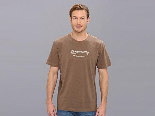 Life Is Good Crusher Grill Sergeant T-Shirt pour Homme Moyen Marron Noisette.