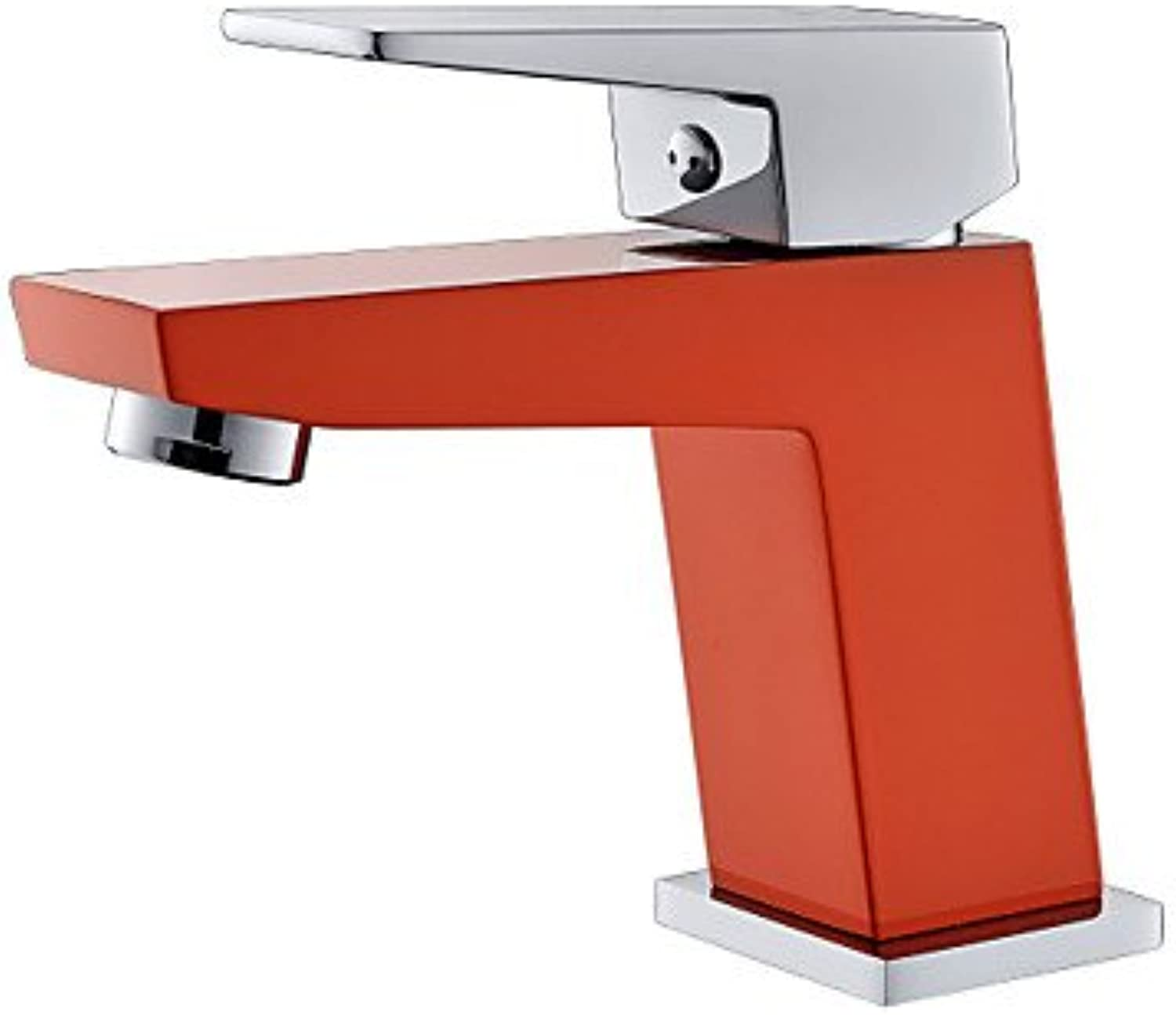 HMer Contemporary orange A Grade ABS Plastice One Hole Single Handle Brass Sink tap