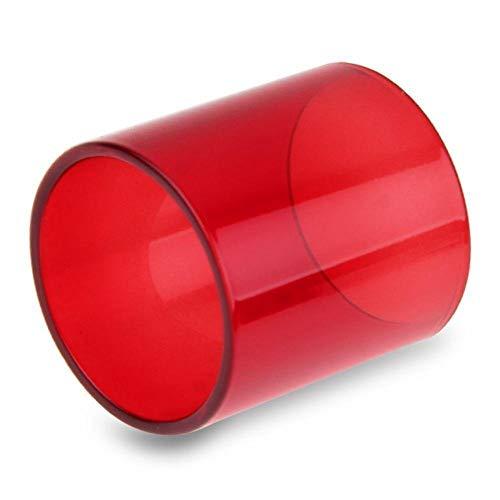 Denghui-ec, Tubo de reemplazo de Cambio de Color de Vidrio for TFV 8 Big Baby Cloud Bestia 5ml Subohm, Sin Tabaco ni nicotina (Color : Red)