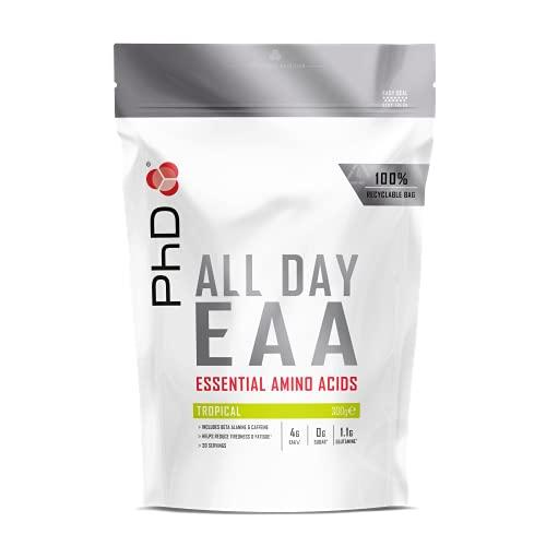 PhD Nutrition All Day EAA, Eseential Amino Acids powder, Tropical, 300 g