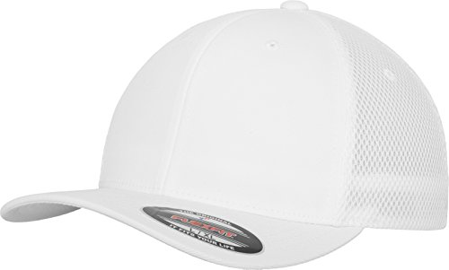 Flexfit Erwachsene Mütze Tactel Mesh, White, L/XL, 6533