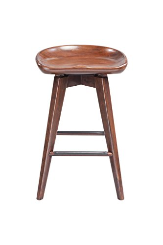 Boraam Bali Counter Height Swivel Stool, 24-Inch, Cappuccino