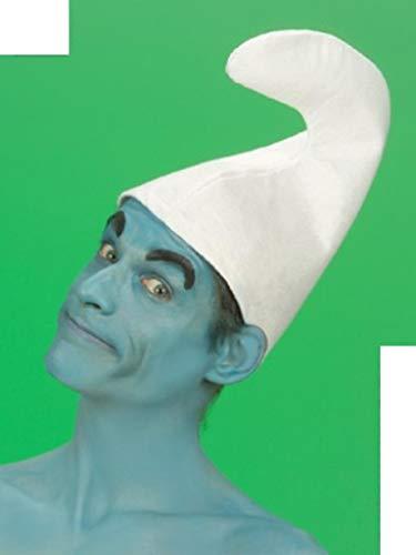 Unbekannt 7 x Zwergenmütze Mütze weiß Zwerg für Kopfumfang von ca. 57 cm Fasching Fastnacht Karneval fürs Kostüm Schlumpf Rosenmontag Faschingskostüm Karnevalskostüm Kinder Erwachsene