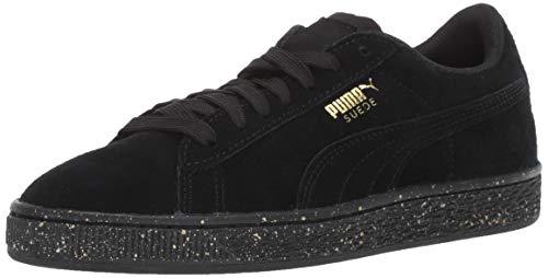 PUMA Unisex Suede Classic Tonal Speckle Kids Sneaker, Black, 11.5 M US Little