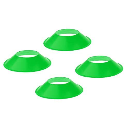 IPOTCH 4 Piezas de Obstáculos de Placa para Entrenamiento de Fútbol Resistente a Viento de Alta Visualidad - Verde