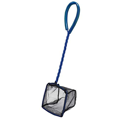 Hobby 60720 Catch it Größe S - hochwertiges Fischfangnetz für Aquarien, Kescher aus reißfestem schwarzen Nylon, S, 35 g