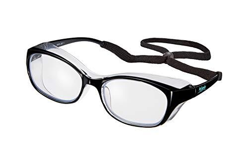 Mysandy Stylish Safety Goggles Anti-Fog Blue Light Blocking Eyeglasses Anti-Saliva Safety Glasses UV Protection for Women Protective Eyewear Suitable for Hospital/School/Laboratory/Daily Life (Black)
