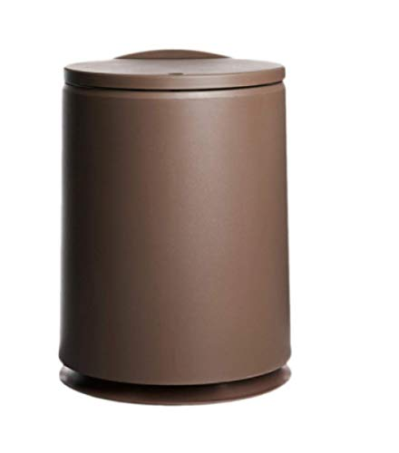 ZKCXIM Round Trash can can be solid Color Household Trash can Plastic Bathroom Trash can Simple Kitchen Container Household Trash can New
