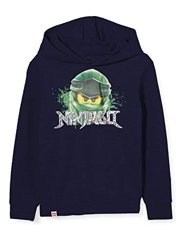 LEGO Jungen cm Ninjago Mit Kapuze Sweatshirt, Blau (Dark Navy 590), (Herstellergröße:128)