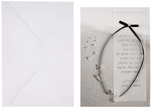 Trauerkarte Lifestyle - Spuren im Sand - 11,6 x 16,6 cm, 7810023-2