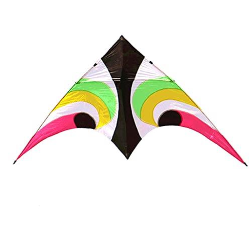 ZANZAN Kite en Forma de Skyeye Hit Color Beginner Kite para Adultos niños, Cometa con Cadena de Cometas y Carrete de Cometa, Viaje de Playa Colorido (Color : 500M Line)