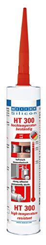 Weicon 13050310 Silicon HT 300 – hochtemperaturbeständiger Kleb-und Dichtstoff/rot / 310 ml Kartusche