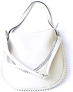 لينز حقيبة طويلة تمر بالجسم نسائية ، جلد صناعي - ابيض