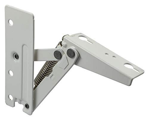 Gedotec Klappenhalter Küche Klappenbeschlag Grass Kinvaro T-57 | Anschlag: Links | Deckelstütze Metall weiß für Holz | Hochschwenk-Automatik mit 240 N | 1 Stück - Hochklappbeschlag für Möbel