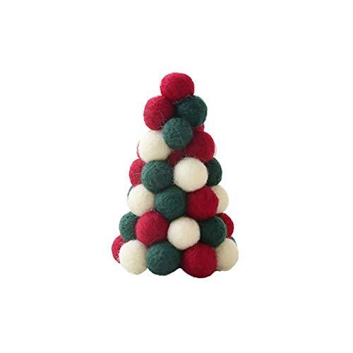 Kersthanger van vilt, kerstboomdecoratie kerstboomversiering, kerstkrans hangende versiering mini kerstboom slingers tafelbladen versiering C