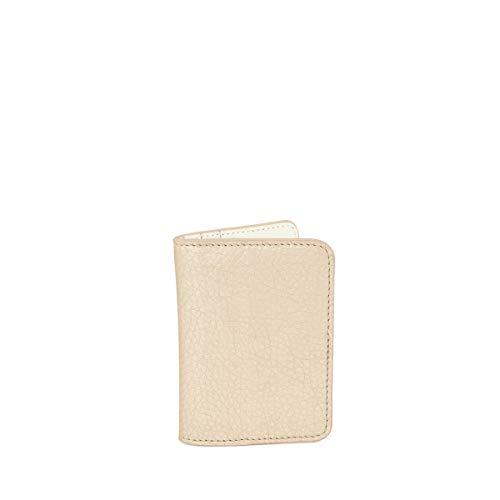 C-oui - Porta carte in pelle goffrata OUESSANT 39, colore: Beige