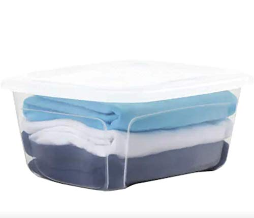 Style Selections Bella 3.5-Gallon (14-Quart) Clear Tote with Standard Snap Lid, Pack of 2