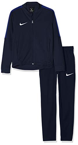 Nike Kinder Academy 16 Youth Knit Tracksuit Trainingsanzug, blau (Obsidian/deep royal Blue/White), XL