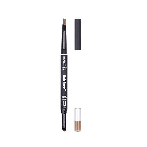 Eyeliners,OVERMAL Crayon Crayon Sourcils Waterproof Oeil Front Outil De CosméTiques Avec Pinceau De Maquillage (Bordeaux)