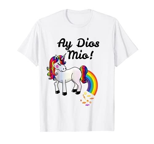 Ay Dios Mio! -ピニャータの問題面白いユニコーンポップキャンディー Tシャツ