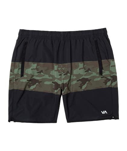 RVCA Mens Yogger Stretch Short - Green Camo/Black | S