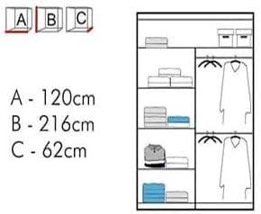 90 cm 150 cm 120 cm 150 cm avec LED 203 cm//armoire coulissante miroir 2 ou 3,A-90 cm 180 cm