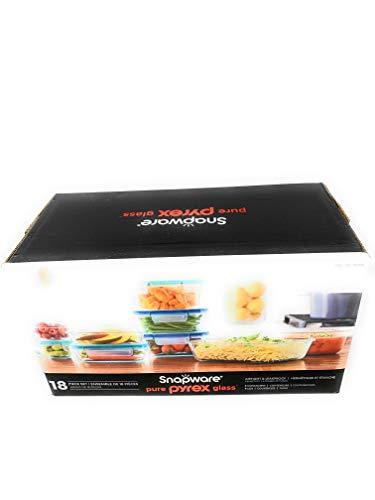 Snapware Pure Pyrex 18-Piece Glass Food Storage Set, 2.6, Clear