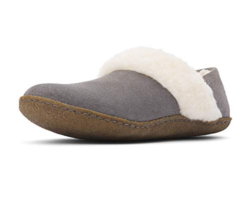 Sorel - Women's Nakiska Slipper II, House Slippers with Suede and Faux Fur Lining, Quarry, Natural, 8 M US