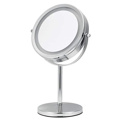 Syqs Led-make-upspiegel, dubbelzijdige desktop-cosmeticaspiegel, stijlvolle driedimensionale inklapbare spiegel, geschikt voor alle soorten make-up-huidverzorging
