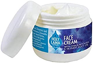 Holy Lama Naturals Ayurvedic Face Cream with Chaulmoogra and Vetivert Root Oil Suitable for All Skin Types SULPHATES & PARABENS FREE (100 g / 3.53 oz)
