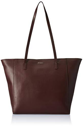 Amazon Brand - Symbol Women's handbags Solid Tote Brown