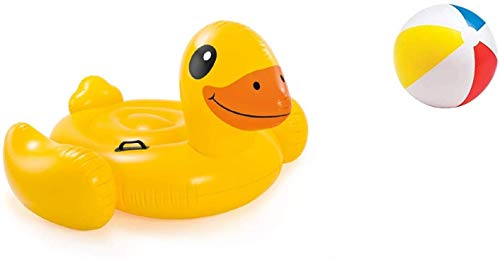Bavaria Home Style Collection- Ente - XXL 221 cm Pool-Insel Insel Badeinsel, Material: PVC, der Coole Badespass im Pool oder am See der ultimative Badespaß
